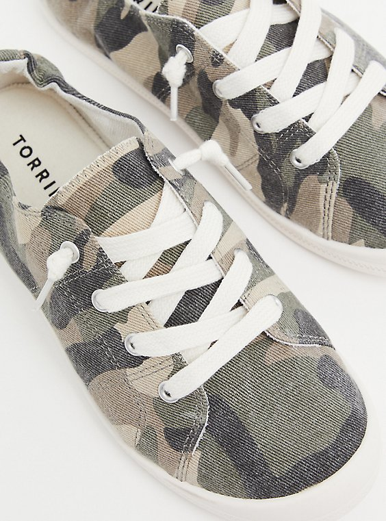 Plus Size Camo Ruched Sneaker (WW), , hi-res