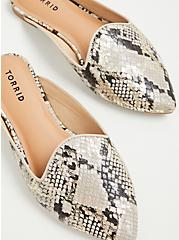 Snakeskin Print Faux Leather Pointed Toe Mule Loafer (WW), ANIMAL, alternate