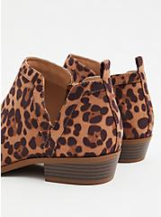 Leopard Print Faux Suede V-Cut Ankle Boot (WW), ANIMAL, alternate