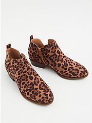 Plus Size Leopard Print Faux Suede V-Cut Ankle Boot (WW), ANIMAL, alternate