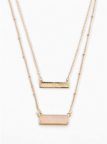 Gold-Tone Layered Bar Necklace, , alternate