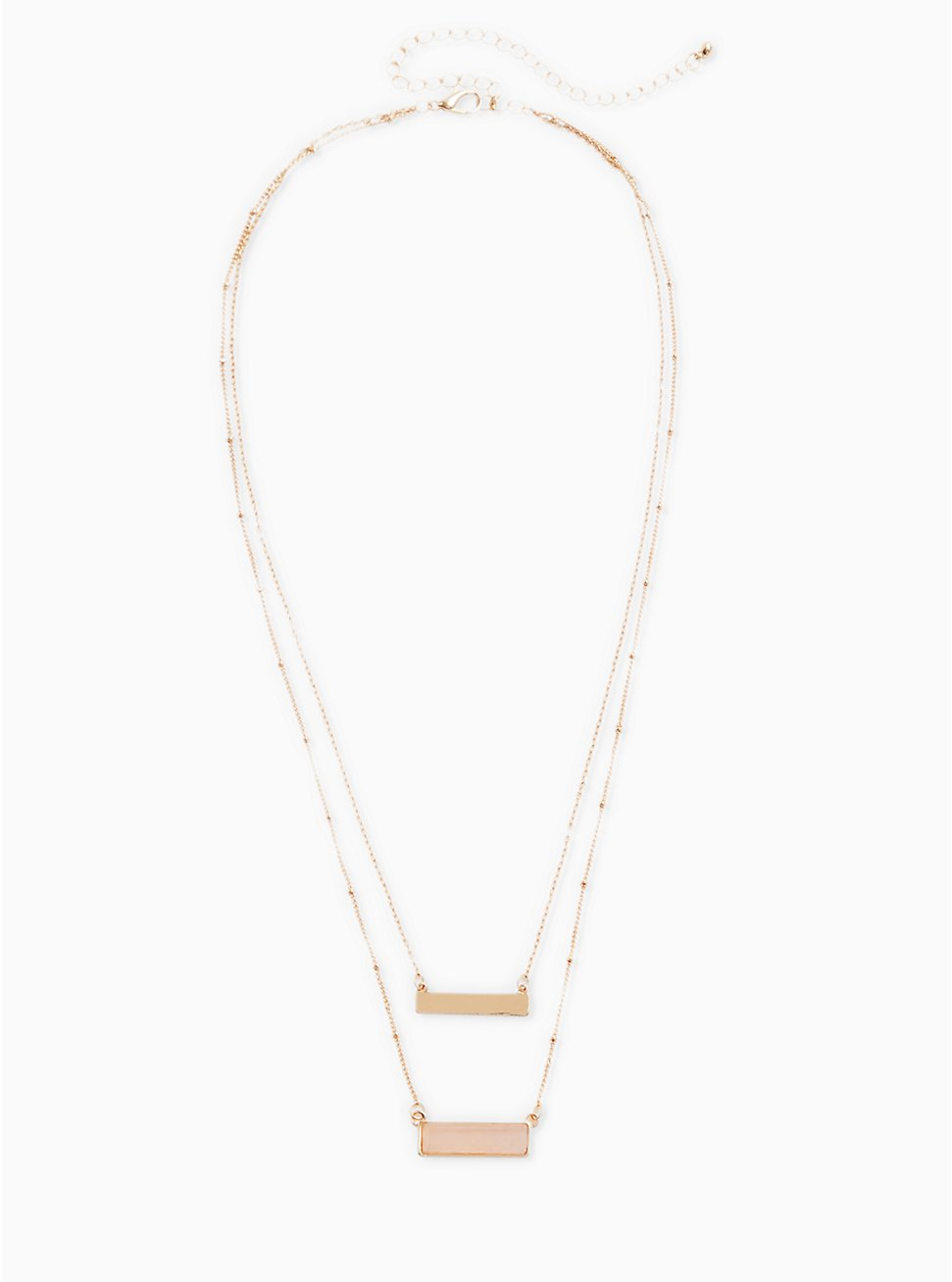 Gold-Tone Layered Bar Necklace, , hi-res