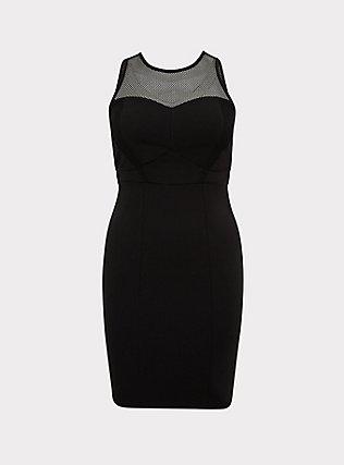 Her Universe Marvel Black Widow Black Mini Bodycon Dress, DEEP BLACK, flat