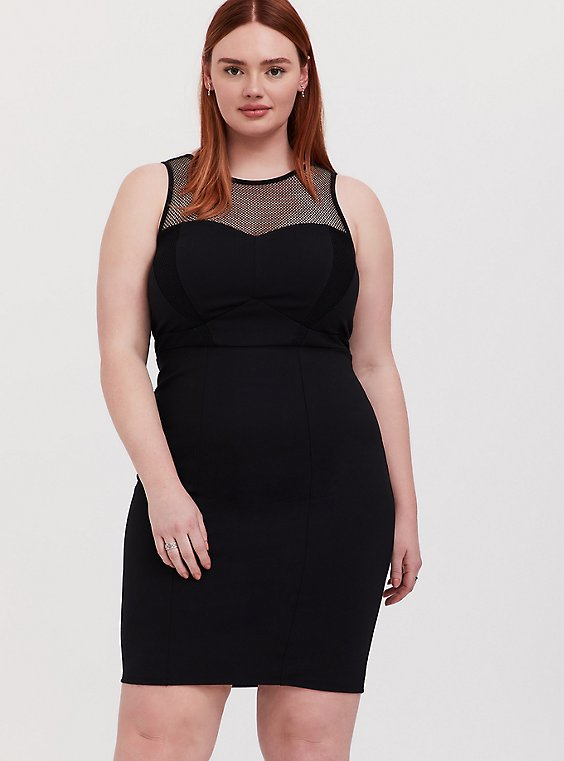Plus Size Her Universe Marvel Black Widow Black Mini Bodycon Dress, , hi-res