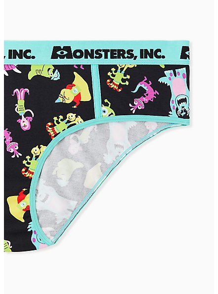 Disney Monsters Inc. Aqua & Black Cotton Hipster Panty, MULTI, alternate