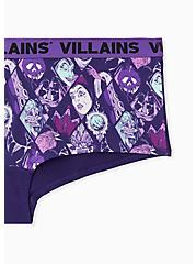 Disney Villains Purple Cotton Boyshort Panty, MULTI, alternate
