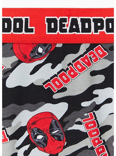 Marvel Deadpool Red & Grey Camo Cotton Hipster Panty , MULTI, alternate