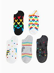 Mickey Mouse Rainbow Ankle Socks Pack - Pack of 5, MULTI, alternate