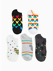 Mickey Mouse Rainbow Ankle Socks Pack - Pack of 5, MULTI, hi-res