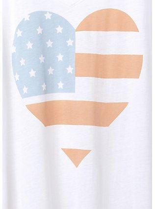White American Heart V-Neck Tee , CLOUD DANCER, alternate