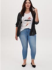 Relaxed Fit Crew Tee - Vintage Burnout Lips White, , alternate