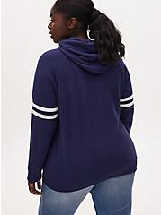 Back To The Future Navy Terry Hoodie, PEACOAT, alternate