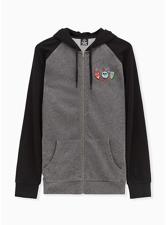 Disney The Nightmare Before Christmas Oogie Boogie Grey Zip Hoodie, , hi-res