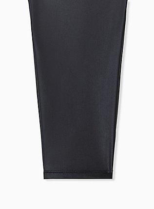 Crop Platinum Legging - Faux Leather Black, BLACK, alternate