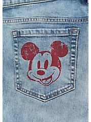 Disney Mickey Mouse Crop Boyfriend Jean - Vintage Stretch Medium Wash, SLOW MOTION, alternate
