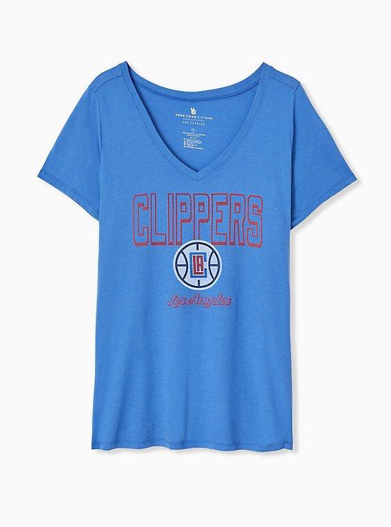 NBA LA Clippers V-Neck Tee - Blue, , hi-res