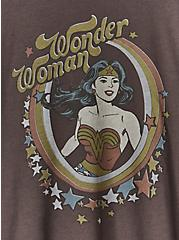 DC Comics Wonder Woman Crew Tee - Chocolate Brown, DEEP BLACK, alternate