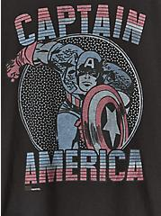 Marvel Captain America Crew Tee - Black, DEEP BLACK, alternate
