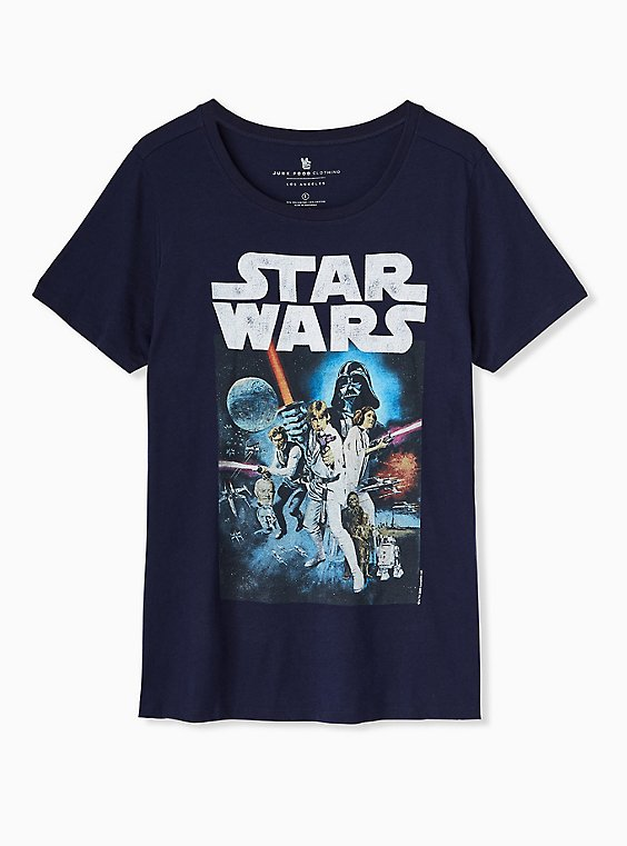 Star Wars Crew Tee - Navy, , hi-res