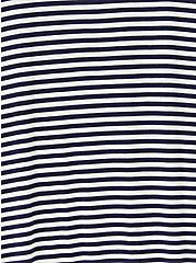 Slim Fit Crew Tee - Super Soft Stripe Navy & White, STRIPE-NAVY, alternate