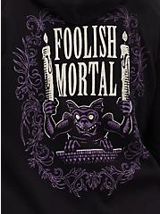 Disney The Haunted Mansion Foolish Mortal Black Zip Hoodie, DEEP BLACK, alternate