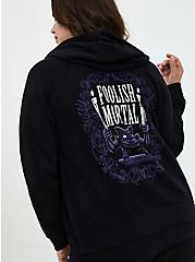 Disney The Haunted Mansion Foolish Mortal Black Zip Hoodie, DEEP BLACK, hi-res