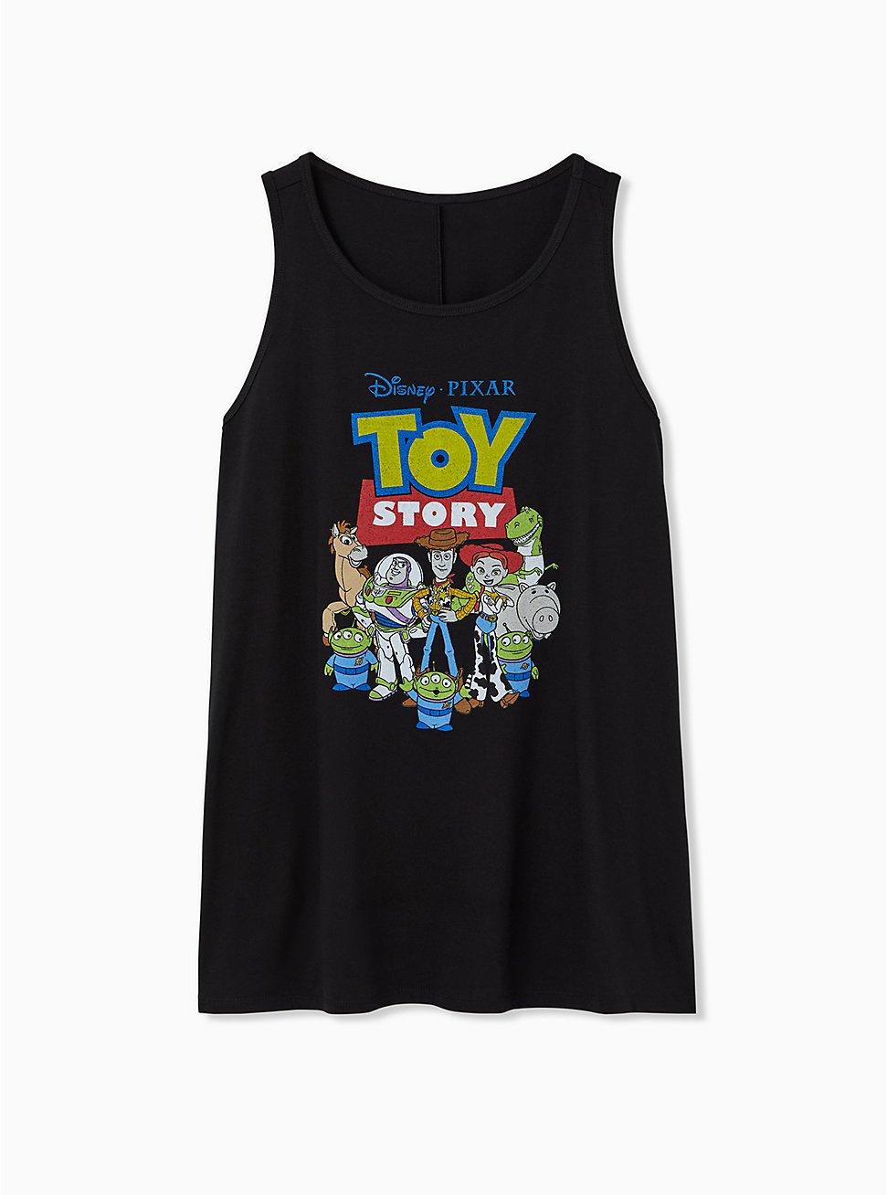 Disney Pixar Toy Story Black Crew Tank, DEEP BLACK, hi-res