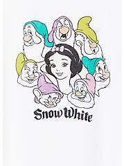 Plus Size Disney Snow White and the Seven Dwarfs White Crop Crew Tee, CLOUD DANCER, alternate