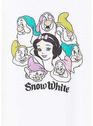 Disney Snow White and the Seven Dwarfs White Crop Crew Tee, CLOUD DANCER, alternate