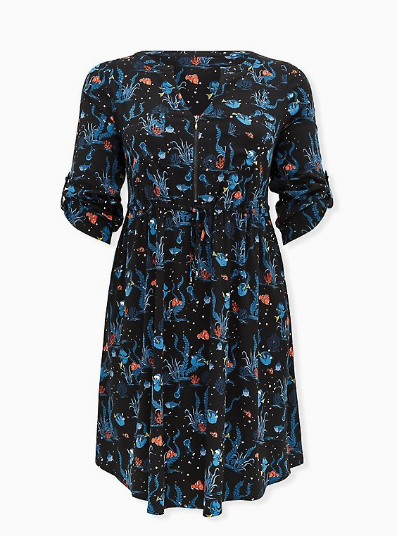 Disney Pixar Finding Nemo Dory & Marlin Challis Shirt Dress, , hi-res