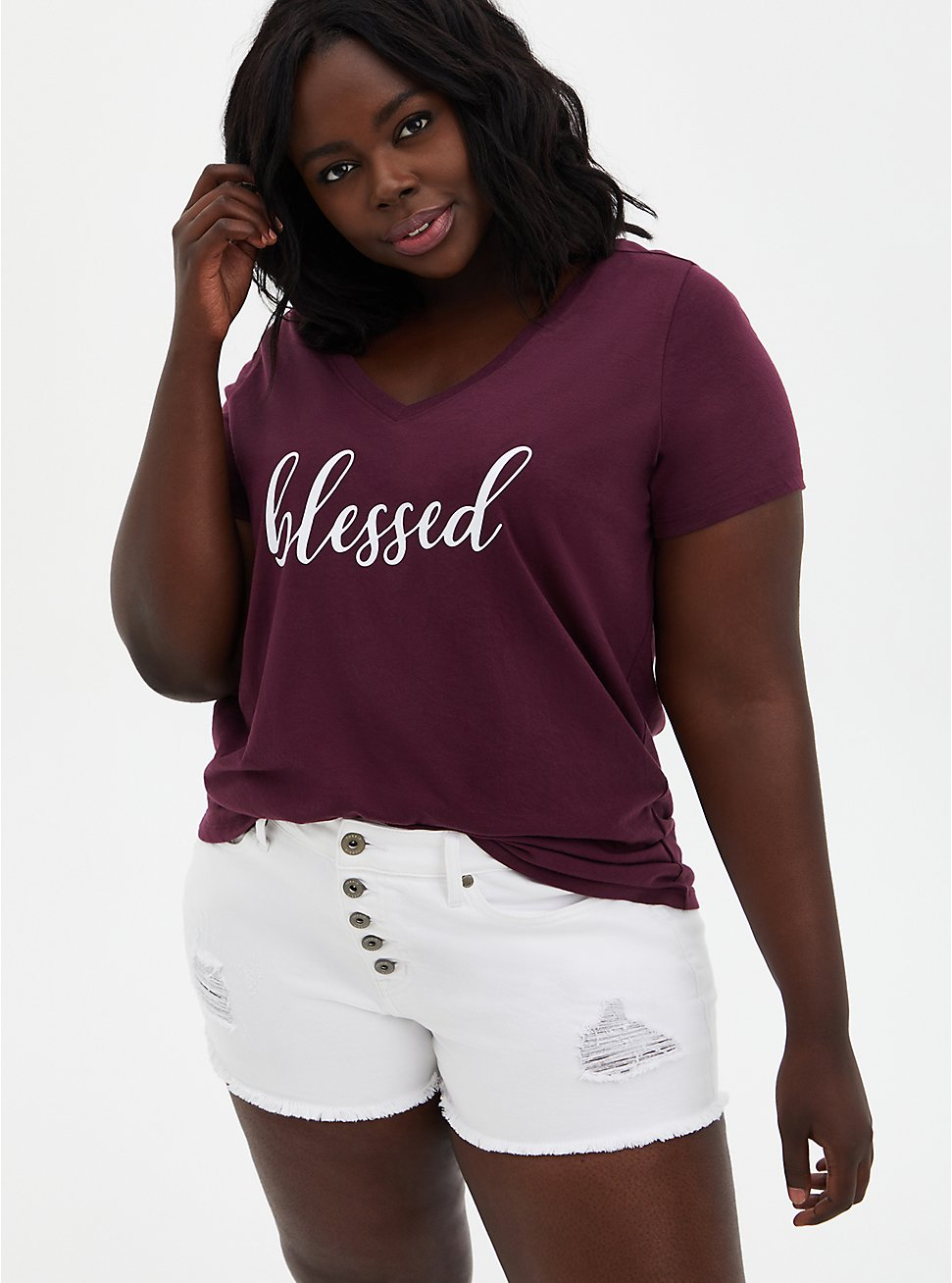 Classic Fit Tee - Blessed Burgundy Purple, , hi-res