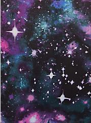 Blue Galaxy & Black Wide Lace Shine Hipster Panty, GALAXY, alternate