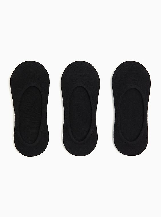 Black No-Show Socks Pack - Pack of 3, , hi-res