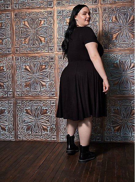 Halloween Costume Goth Girl Dress , DEEP BLACK, alternate
