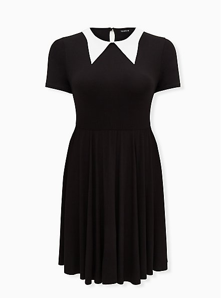 Halloween Costume Goth Girl Dress , DEEP BLACK, hi-res