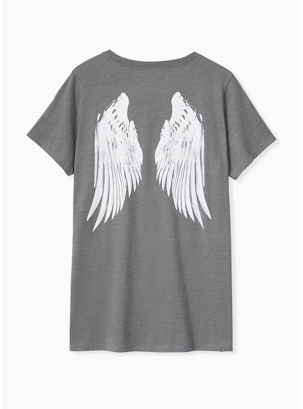 Plus Size Heather Grey Wings Crew Tee, MEDIUM HEATHER GREY, hi-res