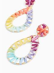 Plus Size Rainbow Wrap Teardrop Earrings , , alternate