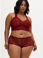 Dark Red Lace Cheeky Panty, JESTER RED, alternate