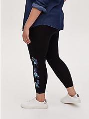 Disney The Haunted Mansion Hitch Hiking Ghost Black Crop Legging, DEEP BLACK, alternate