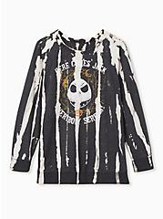 Disney The Nightmare Before Christmas Black Spray Bleach Sweatshirt, BLACK, hi-res