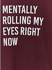 Rolling My Eyes Slim Fit Crew Tee - Burgundy Purple, WINETASTING, alternate
