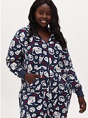 Disney The Nightmare Before Christmas Character Navy Fleece Onesie, MULTI, alternate