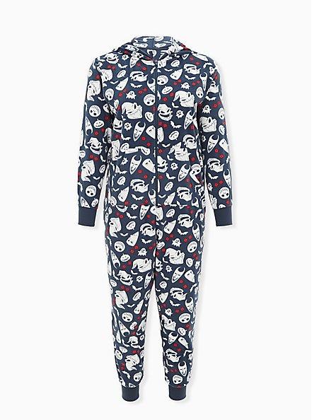 Disney The Nightmare Before Christmas Character Navy Fleece Onesie, MULTI, hi-res