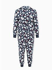 Disney The Nightmare Before Christmas Character Navy Fleece Onesie, MULTI, hi-res