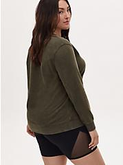 Universal Monster's Black Lagoon Olive Green Fleece Sweatshirt, DEEP DEPTHS, alternate