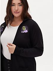 Universal Monster's Frankenstein & Bride of Frankenstein Hooded Cardigan, DEEP BLACK, alternate
