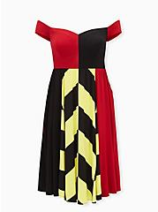 Disney Alice In Wonderland Queen of Hearts Off Shoulder Midi Dress , MULTI, hi-res