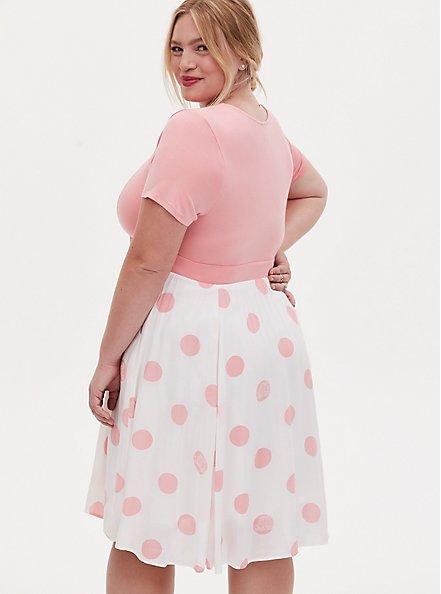 Disney Pixar Toy Story Bo Peep Pink Polka Dot Knit to Woven Dress , PINK  WHITE, alternate
