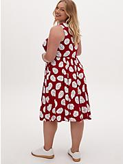 Disney Lilo & Stitch Tropical Leaf Red & White Skater Dress, MULTI, alternate