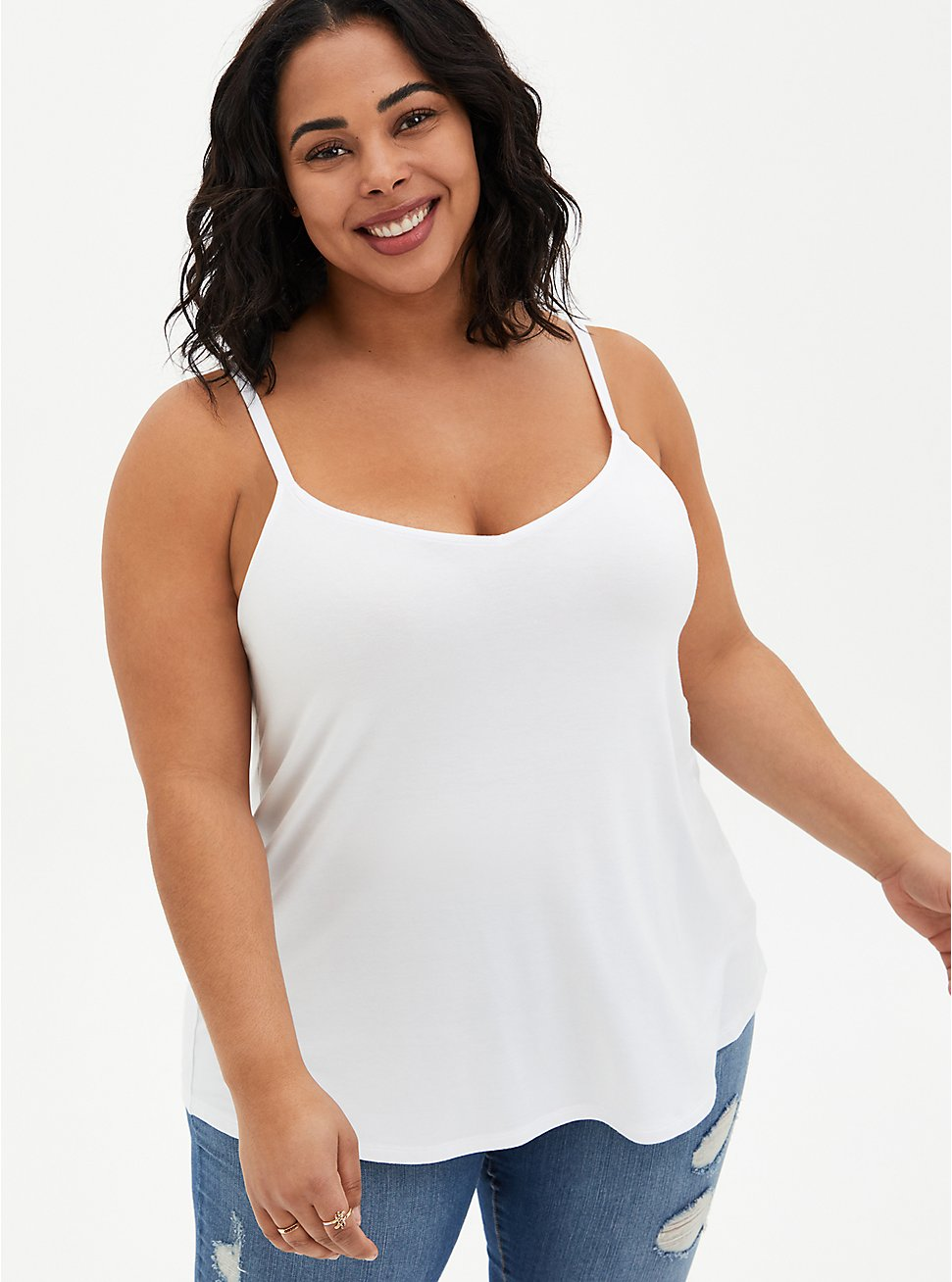 Super Soft White Swing Cami , BRIGHT WHITE, hi-res